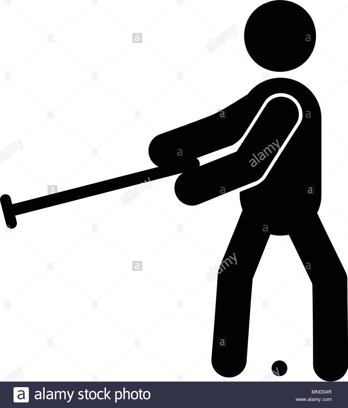 Croquet glyph icon isolated on white background Stock Vector Art 1184x1390