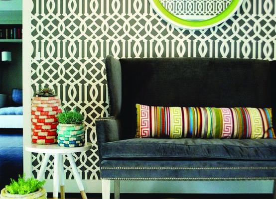 Schumacher Imperial Trellis Wallpaper Home Decor 554x400
