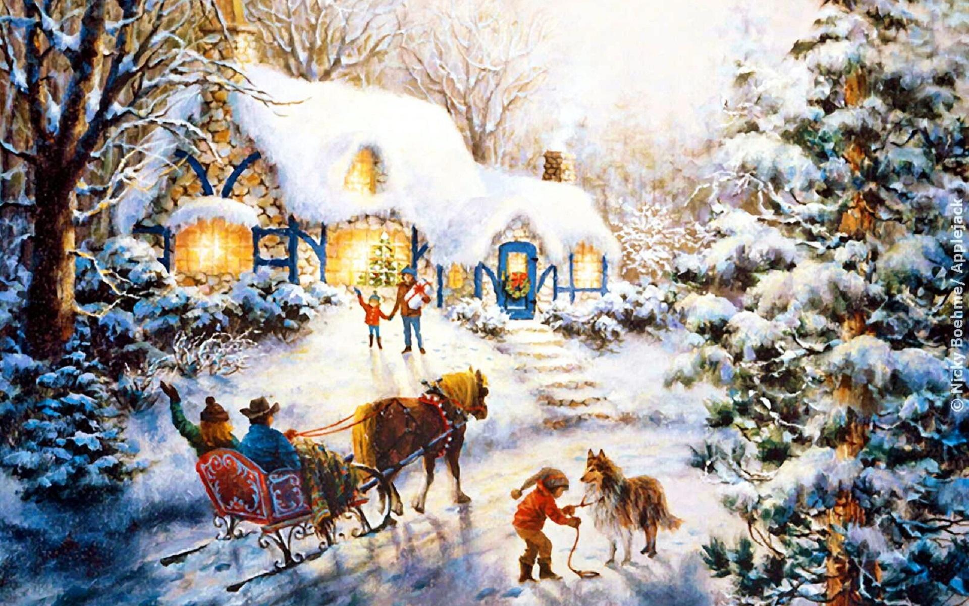 Новогодняя Сказка Обои На Рабочий