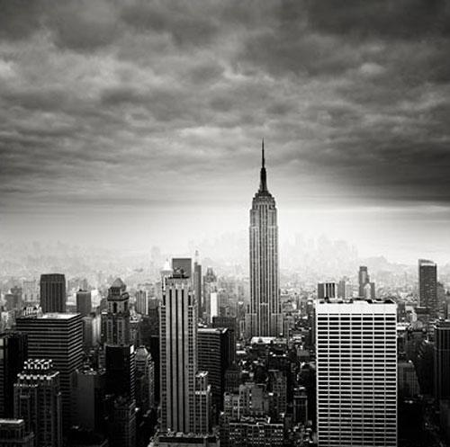 Manhattan NYC New YorkAwesome BW skyline shot 500x497