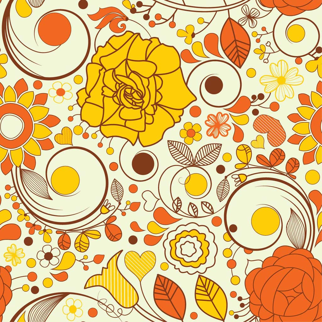 Autumn Flowers Wallpaper 1024x1024