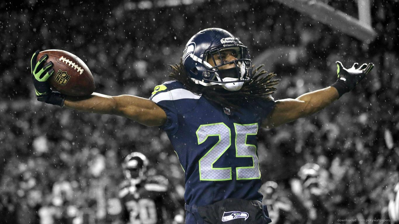 Download 1366x768 Seattle Seahawks Richard Sherman Wallpaper 1366x768