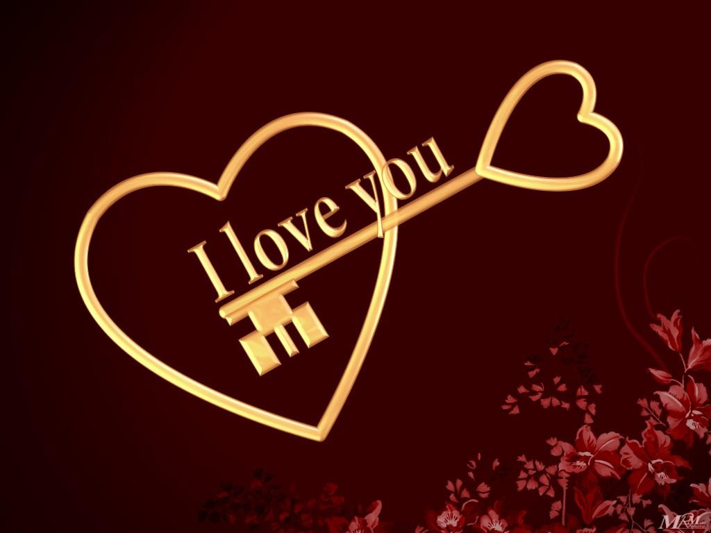 ANIME I love You Wallpaper Wallpaper I Love you I Love U wallpapers 1024x768