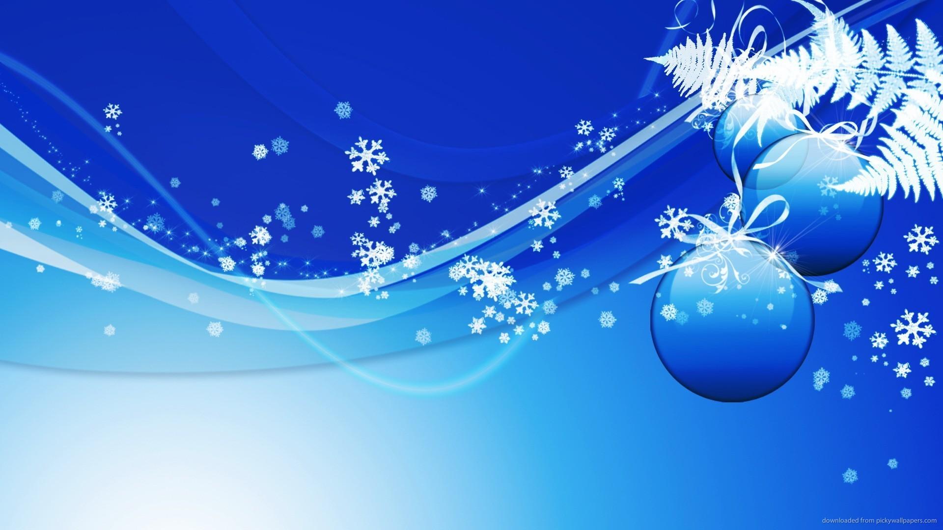 HD Blue Design Christmas Background Wallpaper 1920x1080