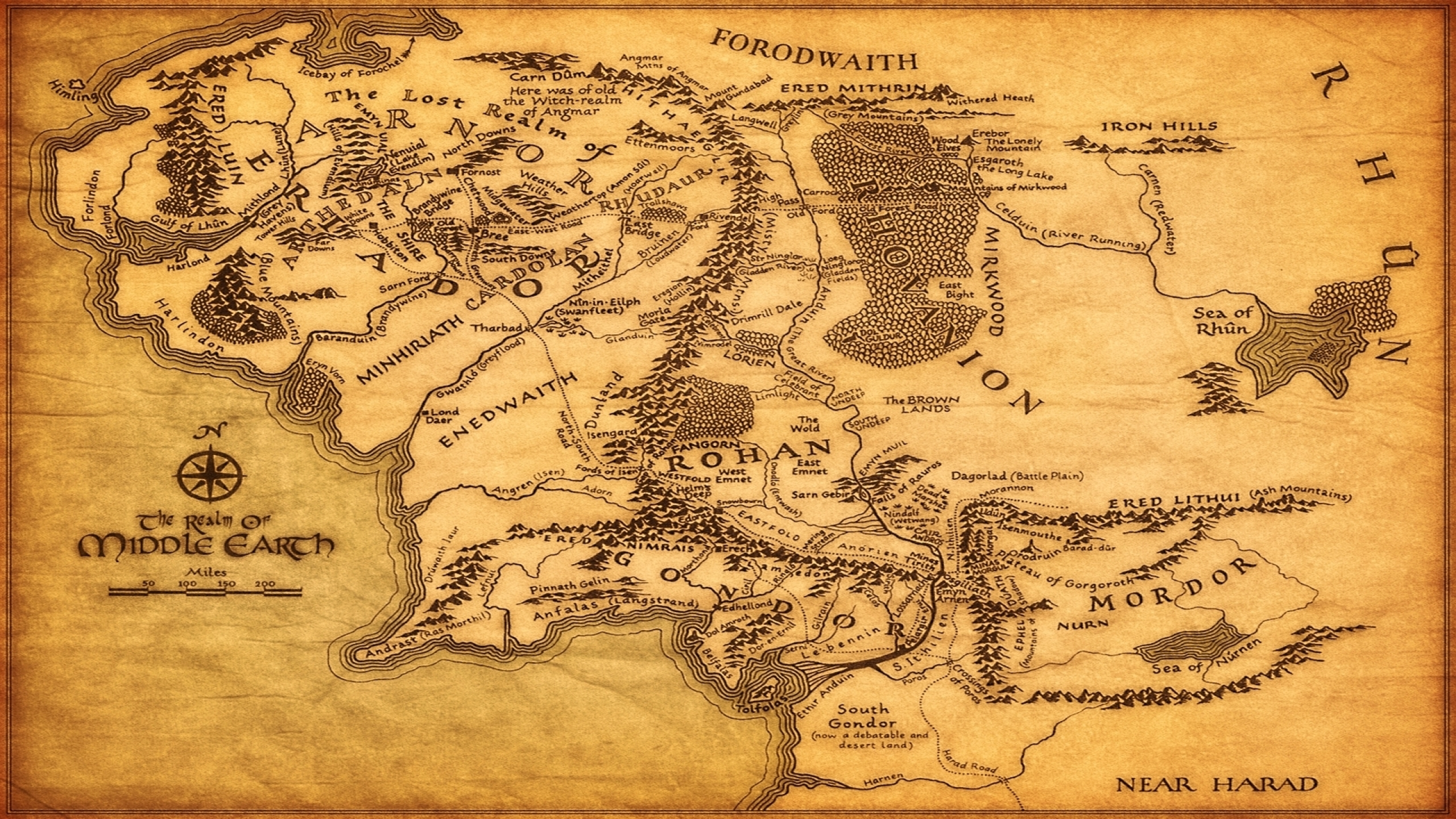 Free Download The Rings Maps Middle Earth 1920x1080 Wallpaper High
