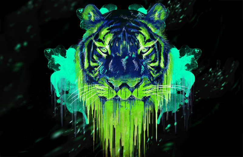 an awesome neon tiger by metalstormkid 800x518