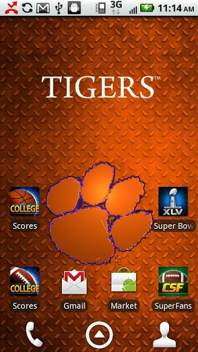 Clemson Live Wallpaper HD App for Android 288x512
