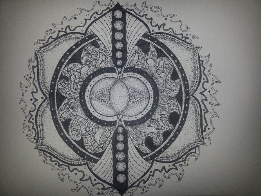 Mandala Wallpaper Black And White Wallpapersafari