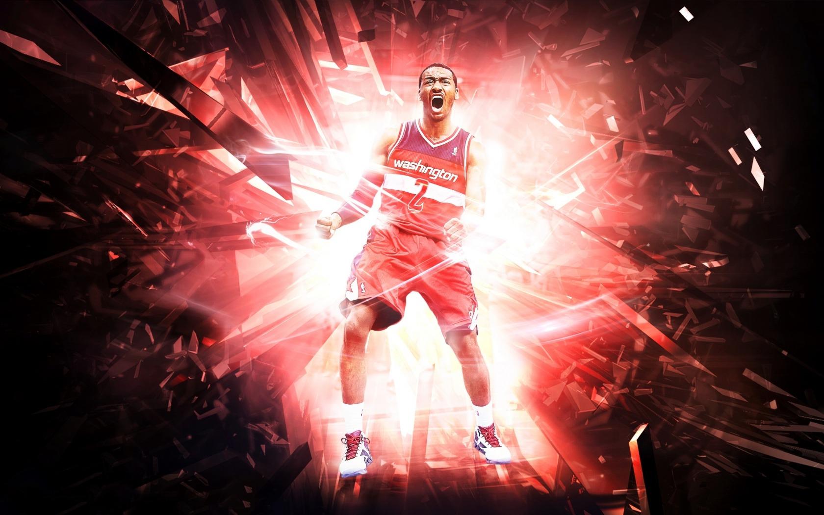 john wall basketball player in NBA sport abstract wallpaper 1680x1050