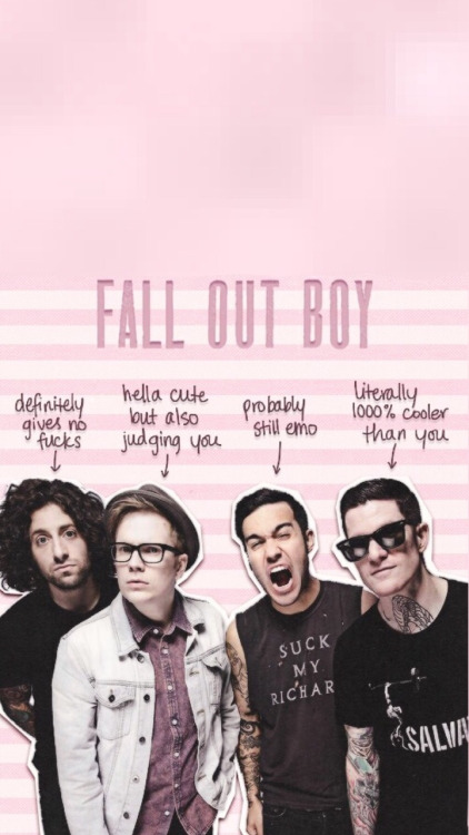 fall out boy iphone wallpaper 422x750