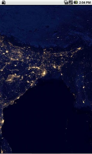 Earth at Night India real HD satellite image not computer enhanced HD 307x512