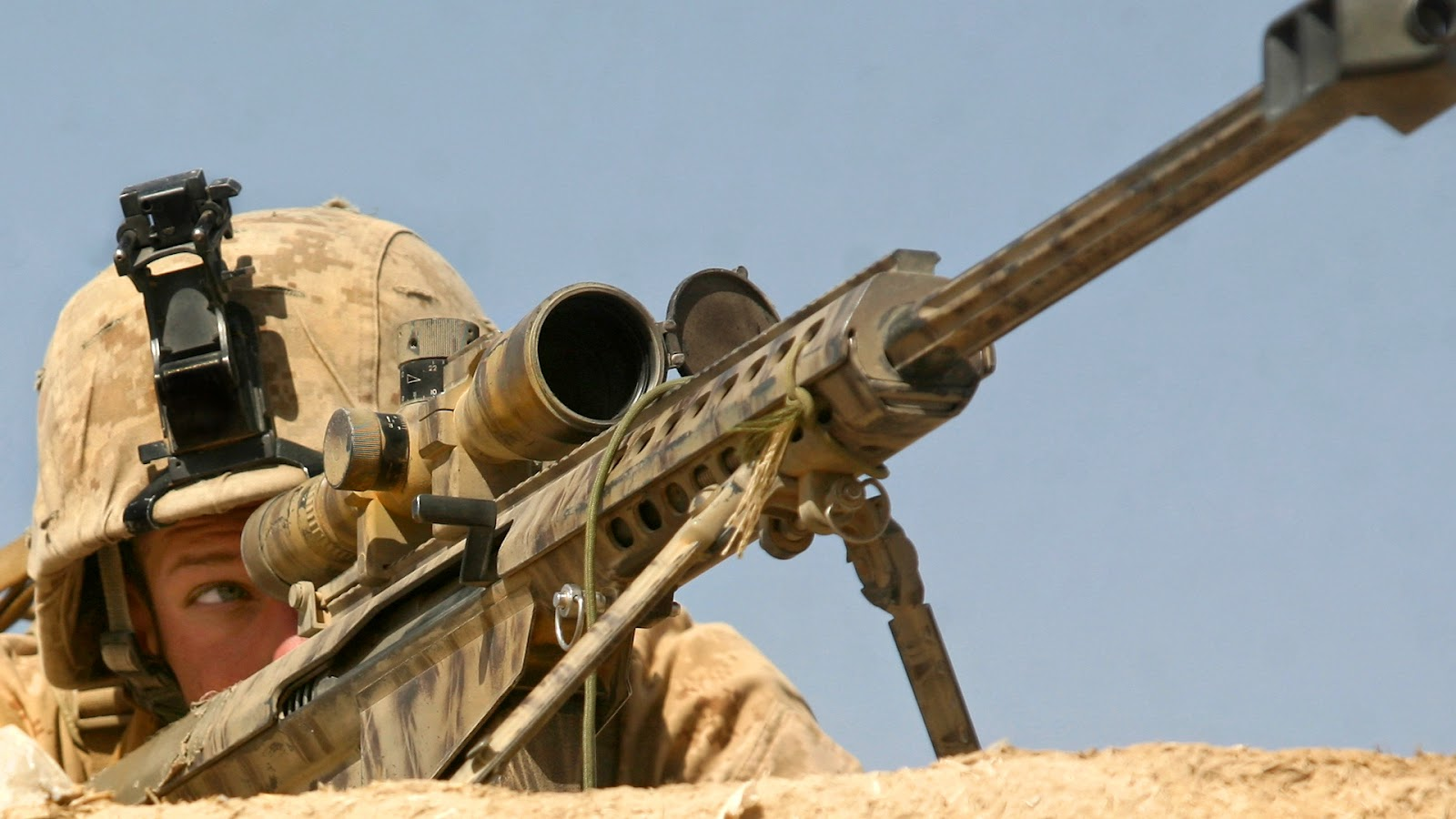 Army Sniper Rifle Wallpaper 1600x900