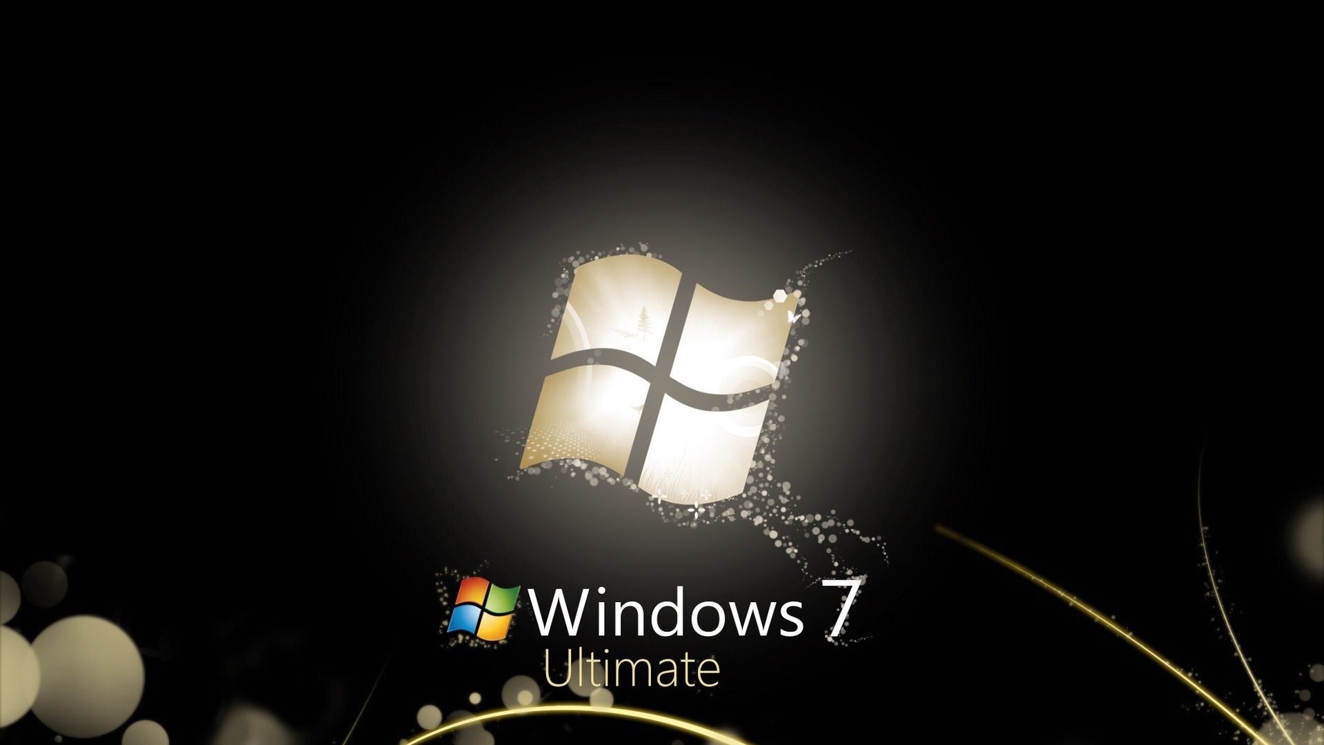 Download wallpaper 1920x1080 windows 7 ultimate bw lines full 1920x1080