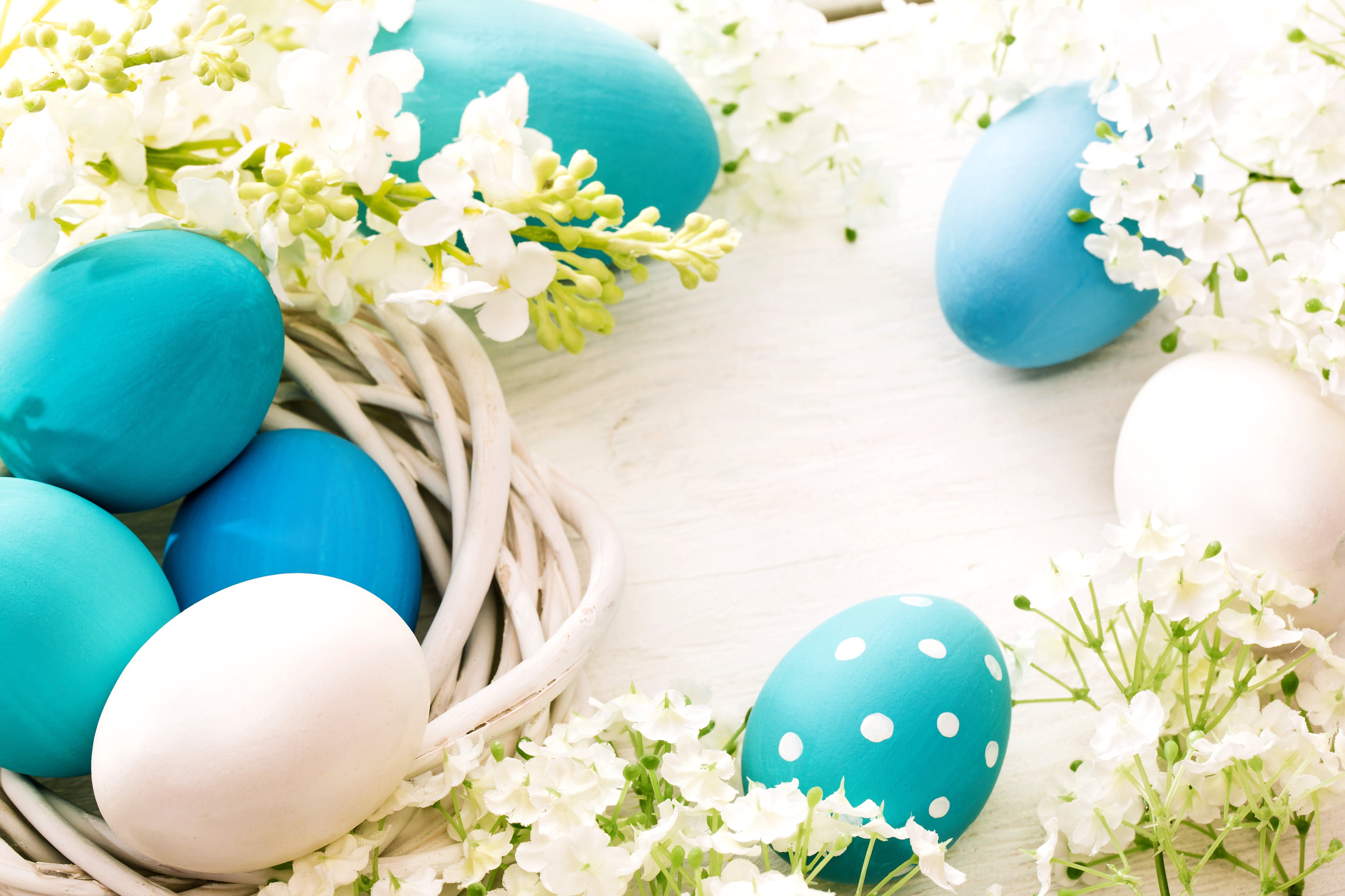 Blue Easter Eggs Background Gallery Yopriceville   High Quality 5000x3333