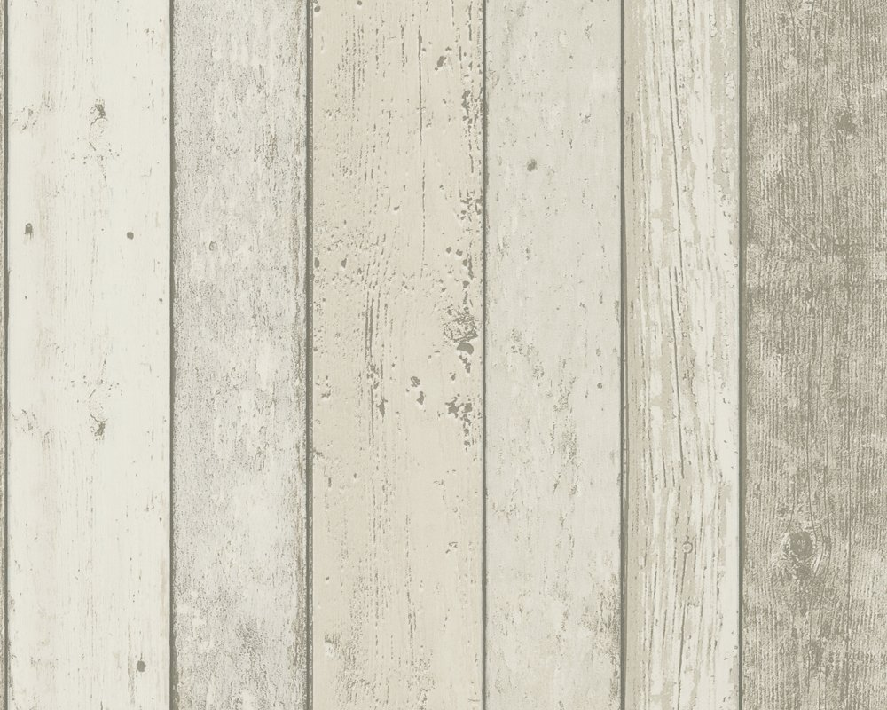 Distressed White Wood Panel Effect Wallpaper 8951 10 1000x800