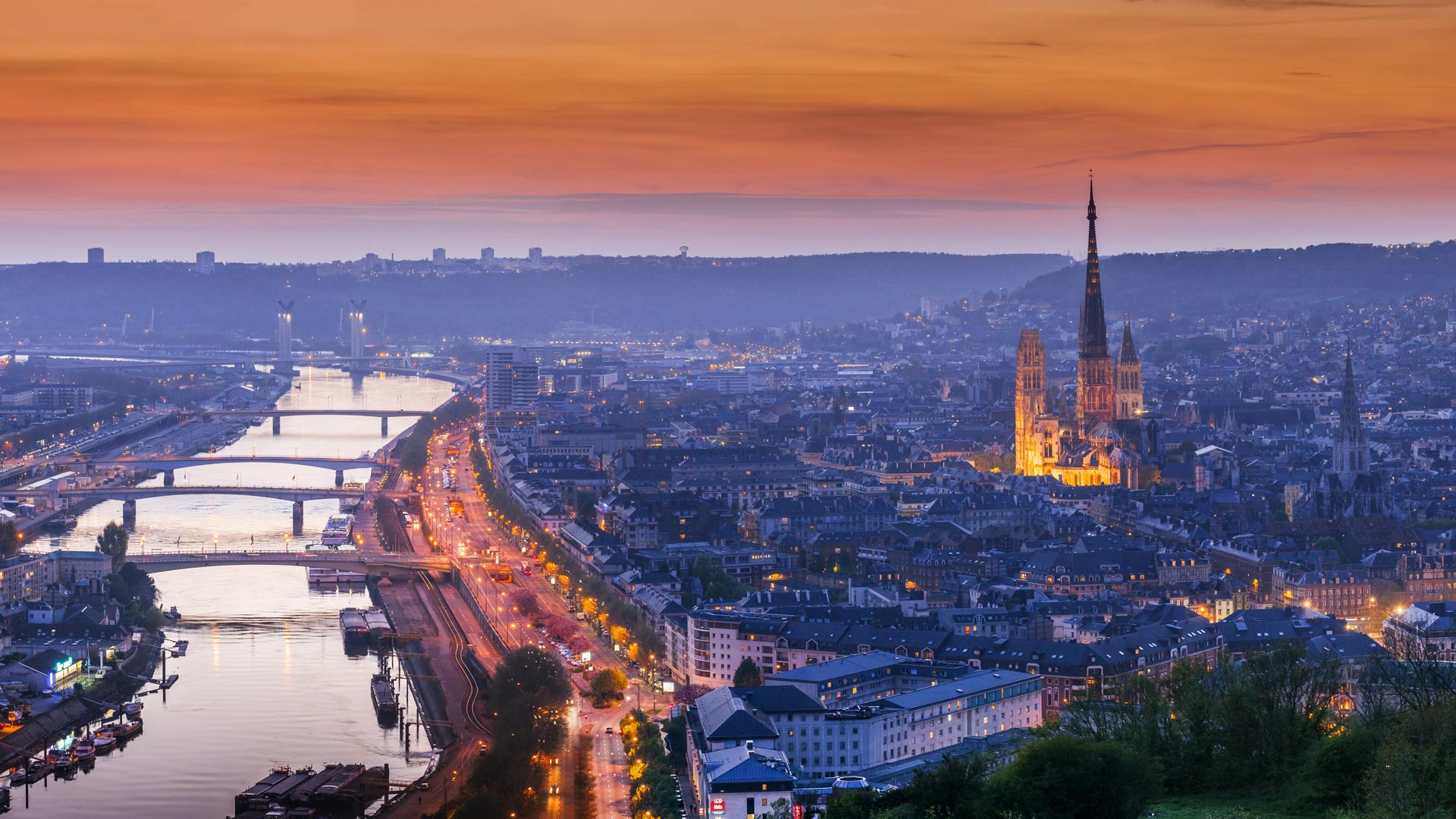 Rouen France Bing Wallpaper Download 1920x1080