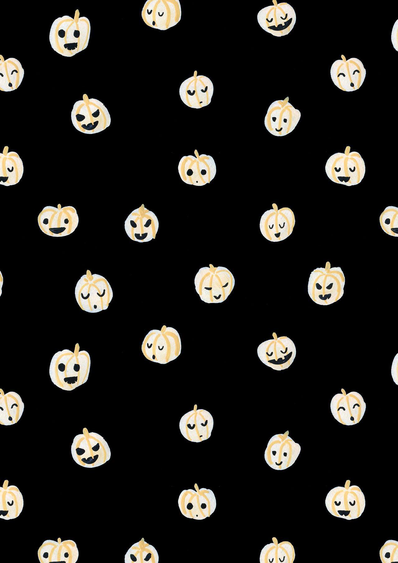 Autumn Fall Halloween cute pumpkin pattern design all 1280x1811