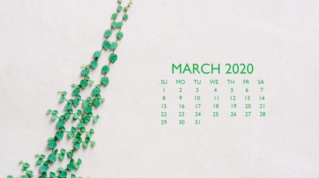March 2020 Calendar Wallpaper For Desktop Laptop iPhone 1024x573