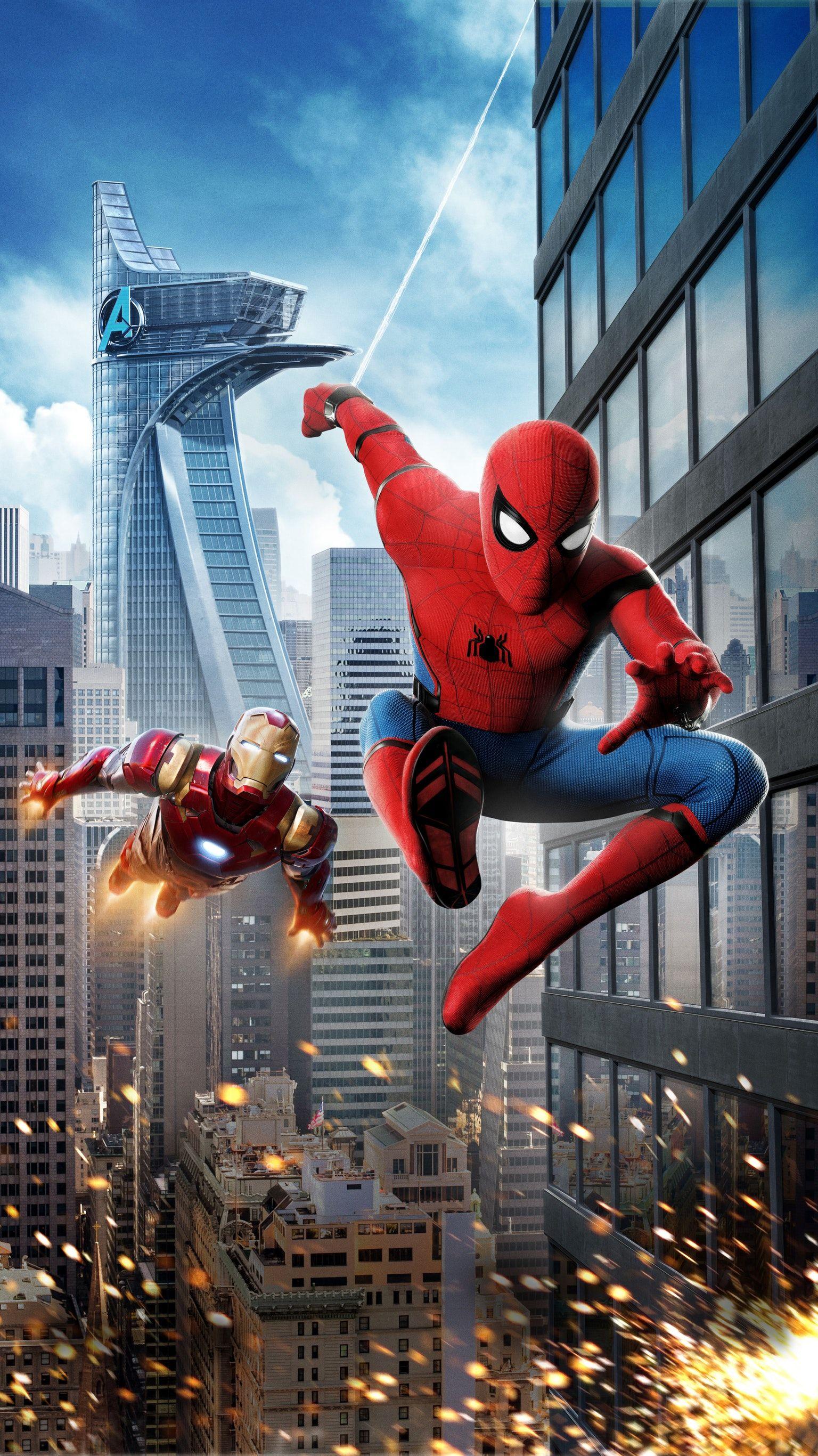 Spider Man Homecoming 2017 Phone Wallpaper Marvel 1536x2733