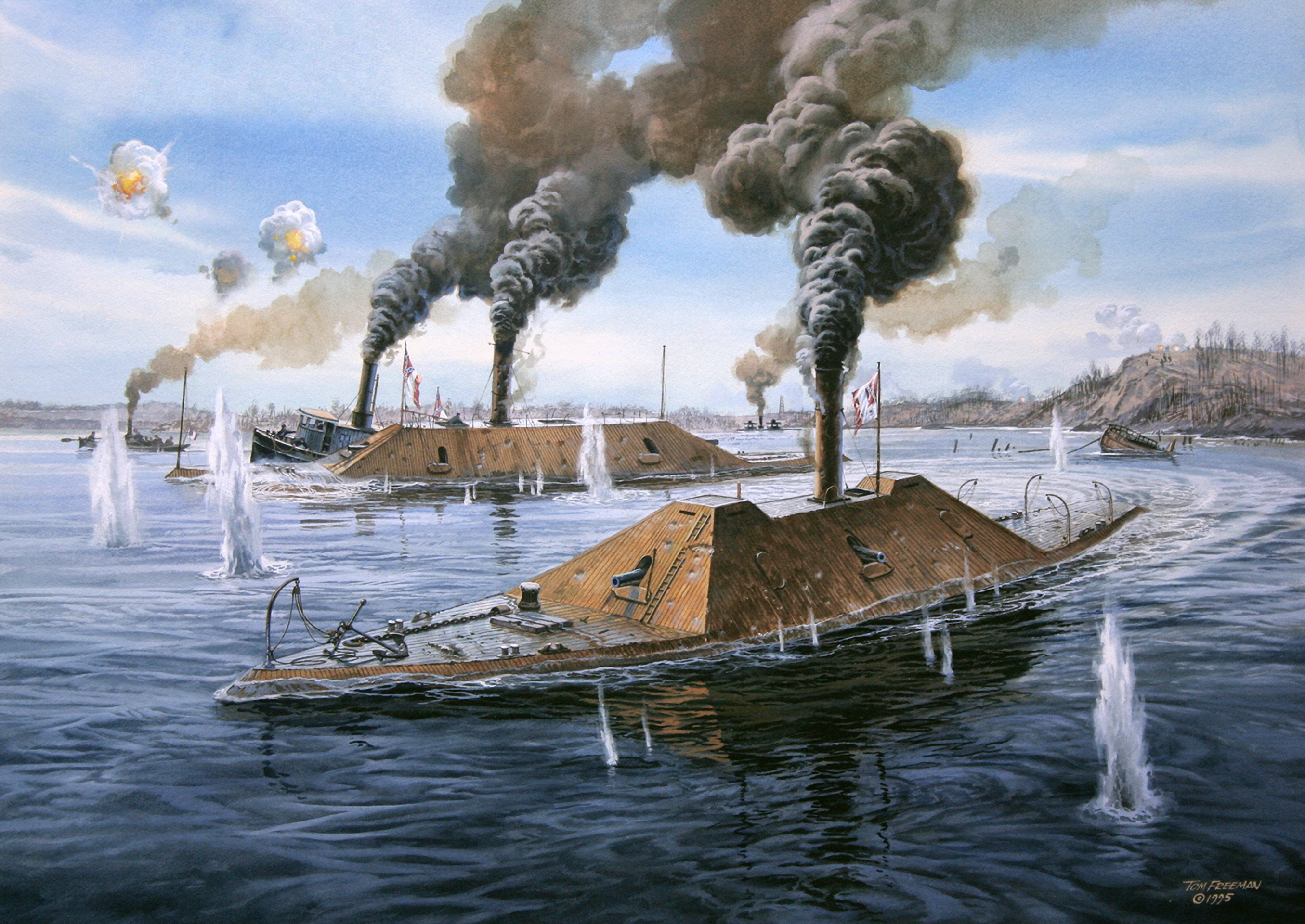 Wallpaper ironclad civil war united states naval battle wallpapers 2710x1920