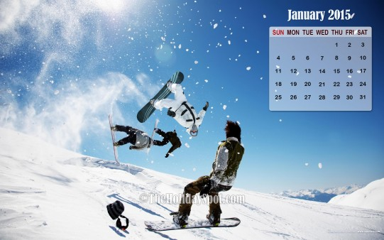 Month wise Calendar Wallpapers January Calendar Wallpaper 2015 541x338
