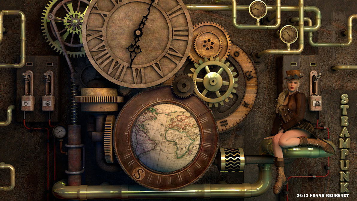3d Steampunk Desktop Wallpapers Wallpapersafari