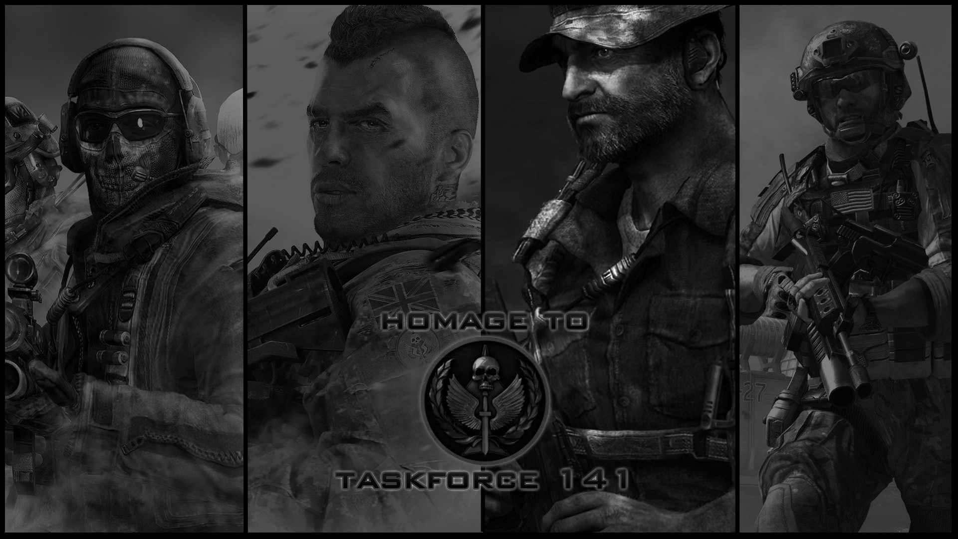 homage to task force 141 by declarck fan art wallpaper games ghost 1920x1080