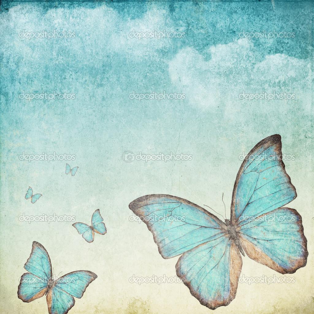 Vintage Butterfly Wallpaper   Widescreen HD Wallpapers 1024x1024
