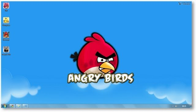 angry birds theme with high resolution wallpapers sound and icons 640x368