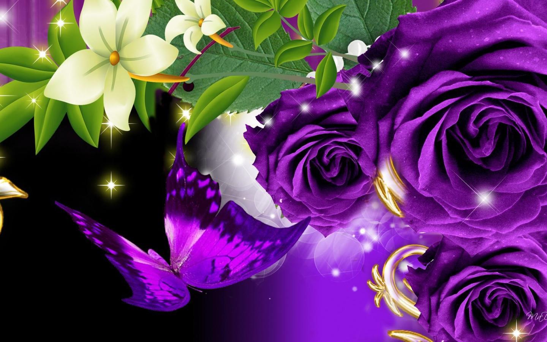purple rose wallpaper for desktop wallpapersafari