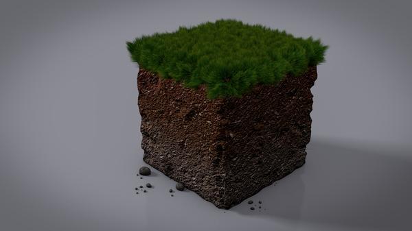 games landscapes dirt minecraft digital art block 3d fan art Wallpaper 600x337