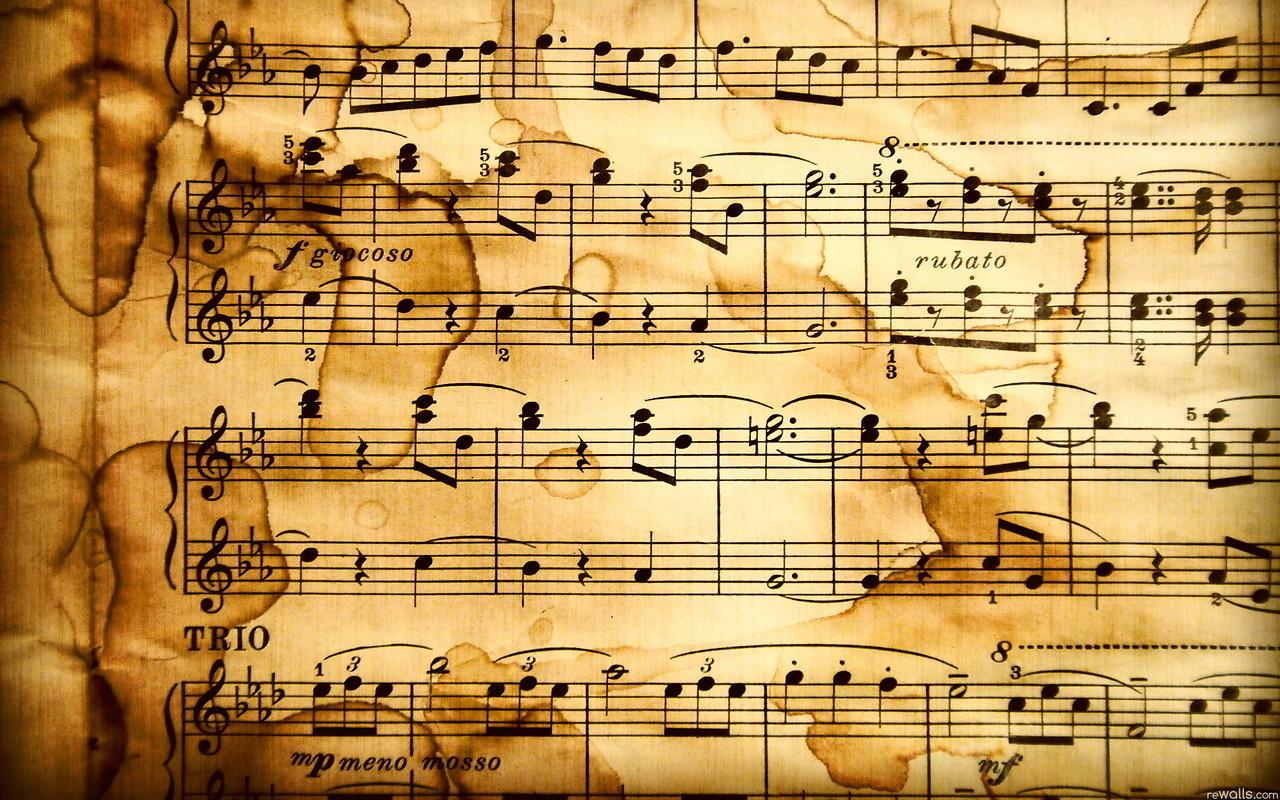 Sheet Music Wallpaper download   Download Sheet Music HD 1280x800