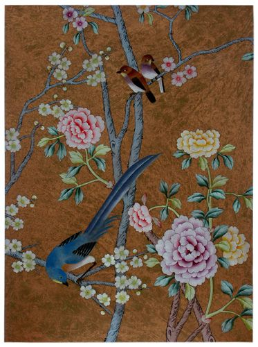 wallpaper Chinese WallPaper Chinoiserie WallPaper Silk 373x500