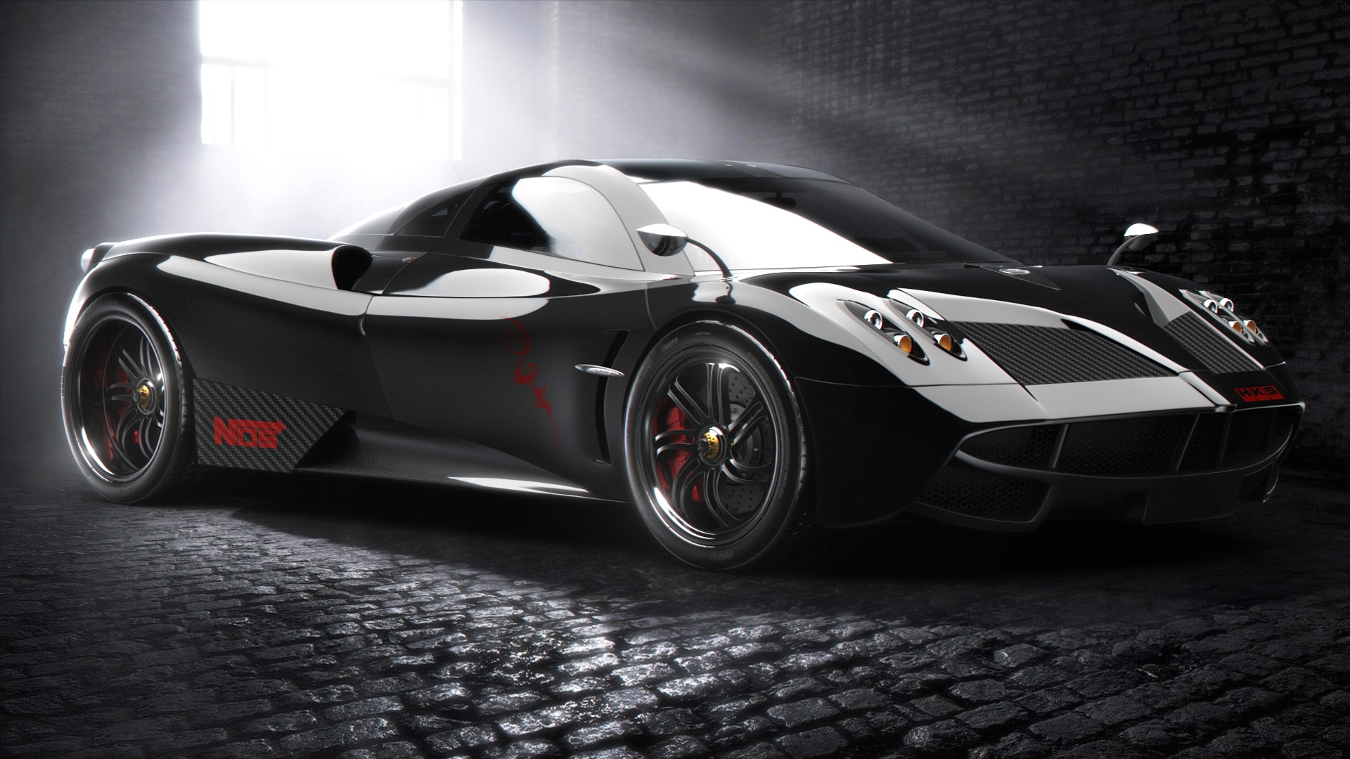 Pagani Huayra supercar black Wallpaper Widescreen Wallpapers 2014 1920x1080
