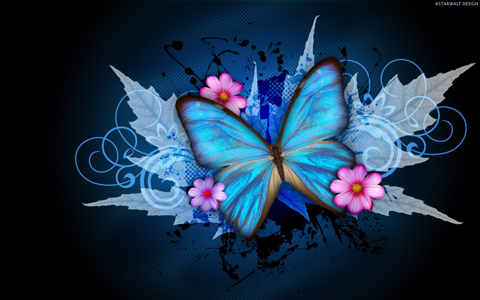Abstract Butterfly Wallpaper 1920x1200