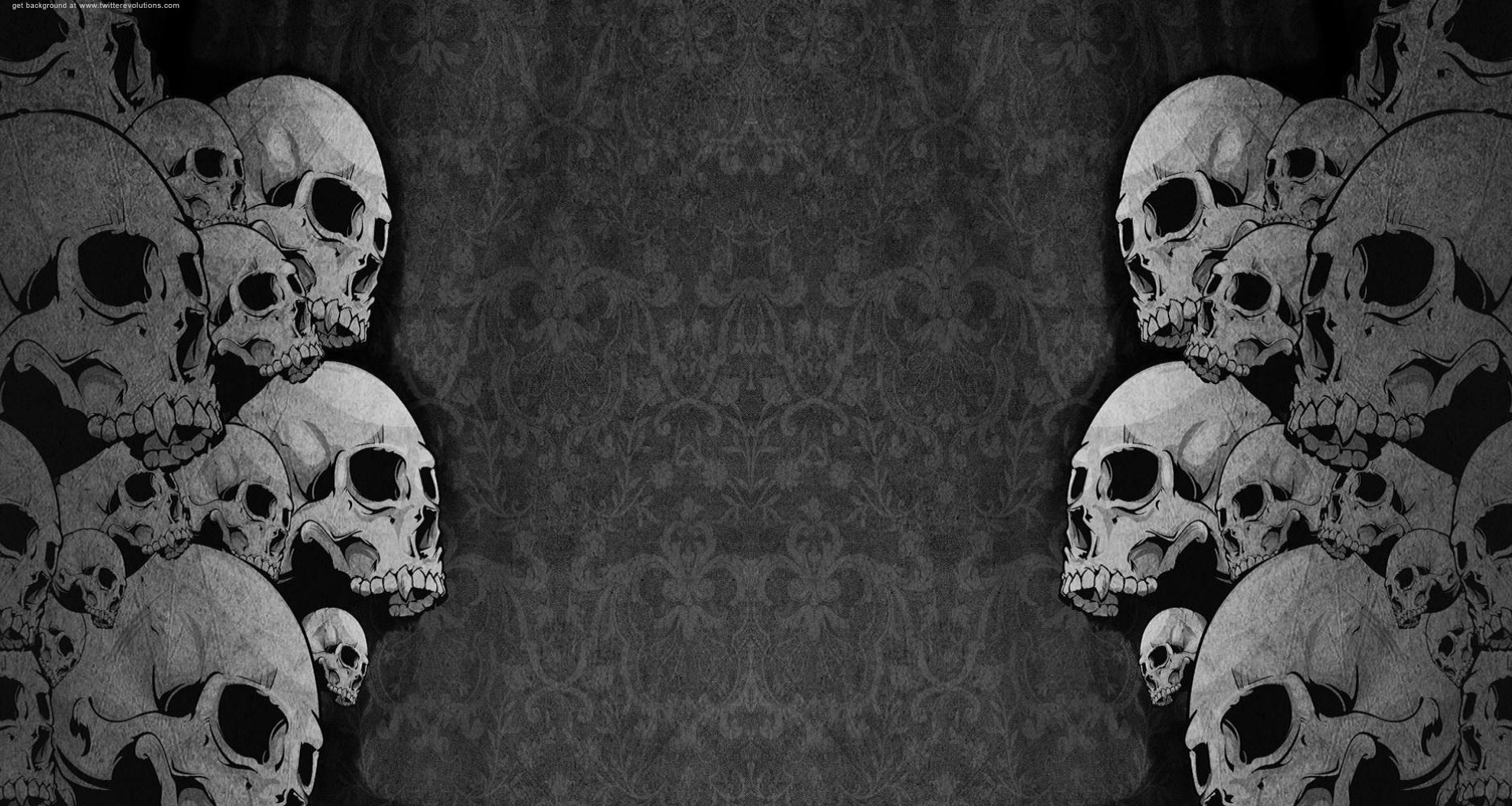 skulls twitter background twitter backgrounds Black Background 1920x1024