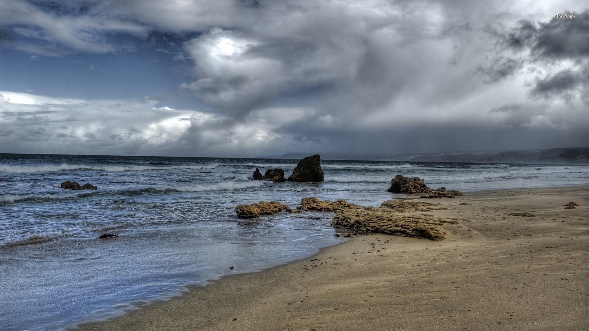 Storm clouds above the ocean wallpaper   1375779 1920x1080