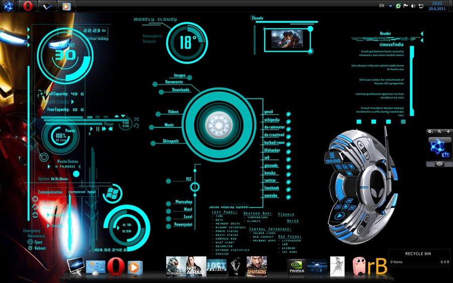 Iron Man Desktop by Urosq 900x563