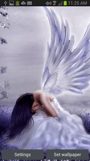 48 weeping angels live wallpaper on wallpapersafari - Sad angel wallpaper ...