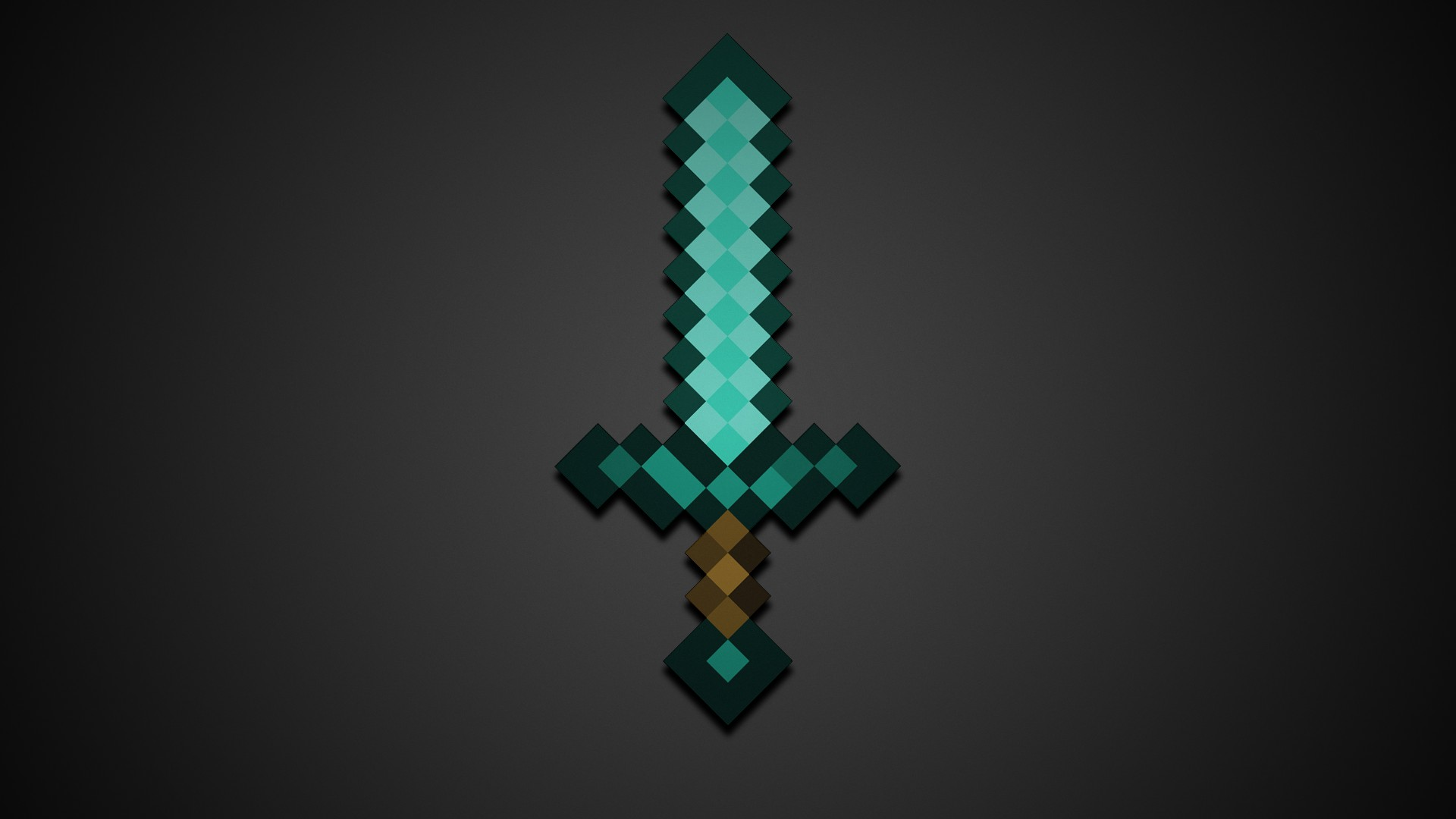Minecraft Diamond Sword HD Wallpaper 1920x1080