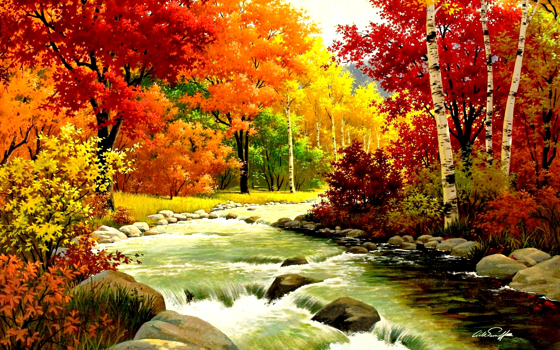 Autumn Fall Wallpapers River 2621 Wallpaper Cool Walldiskpapercom 1920x1200