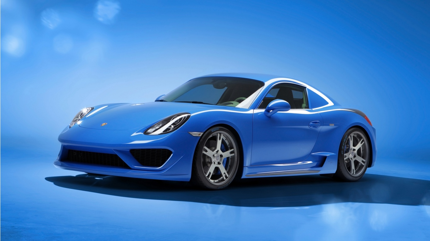 Porsche Cayman Moncenisio Blue Wallpaper HD Car Wallpapers 1366x768