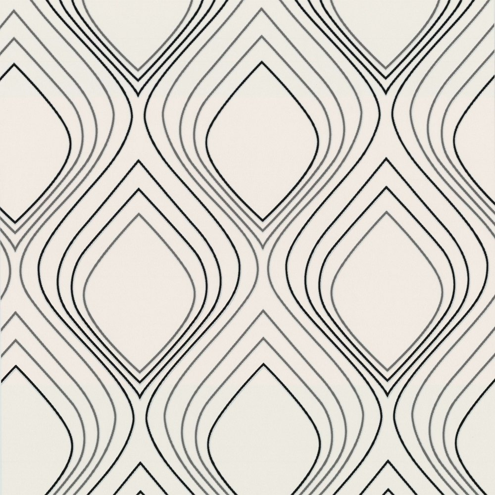 Brown Graham Brown Superfresco Vogue Wallpaper Black and White 1000x1000