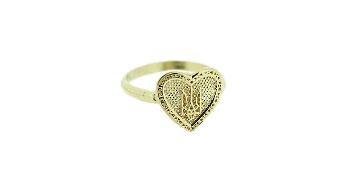 Gold Tryzub Heart Ring Golden Lion Jewelry 1200x630