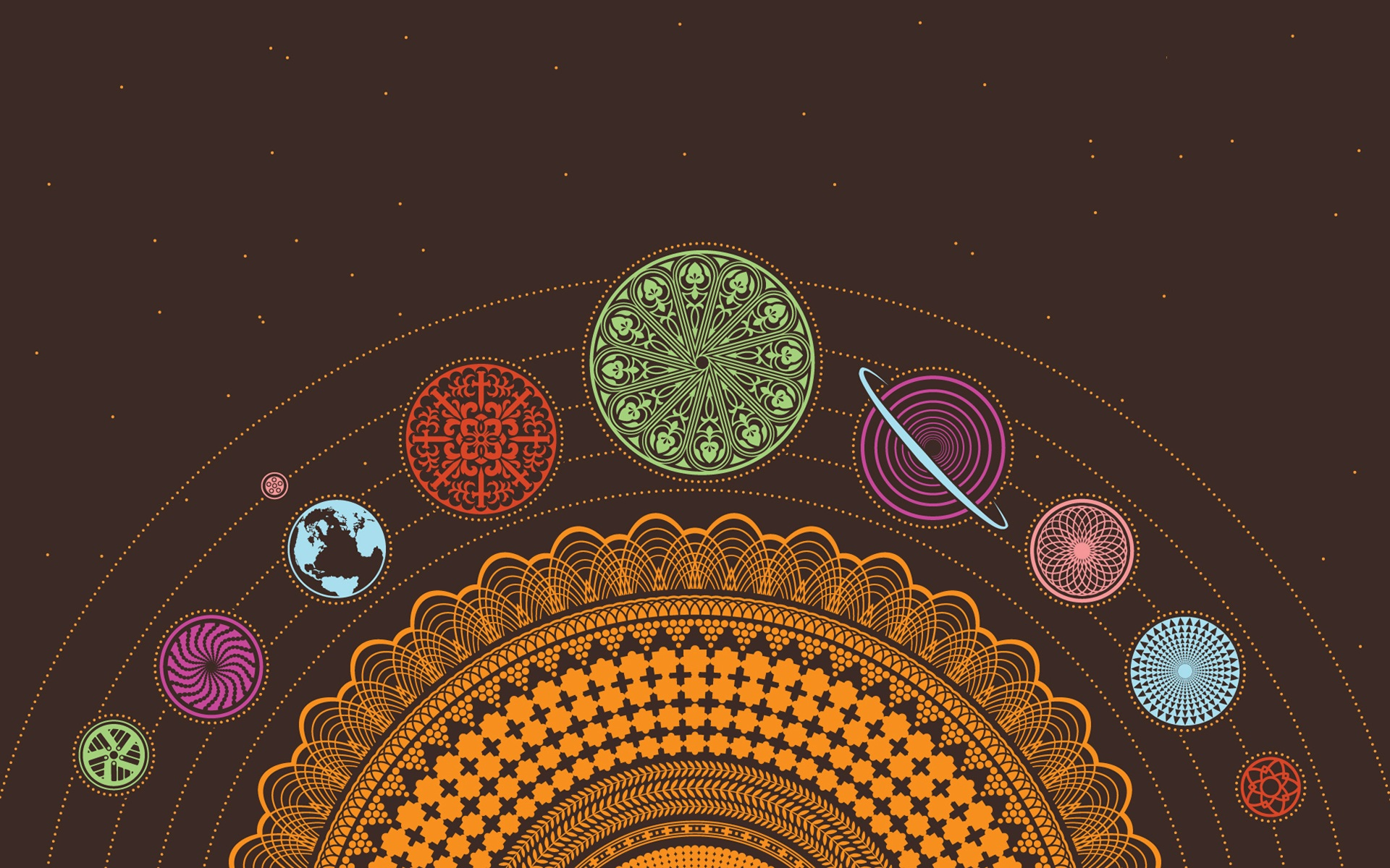 planets earth psychedelic scheme chakra esoteric wallpaper background 1920x1200