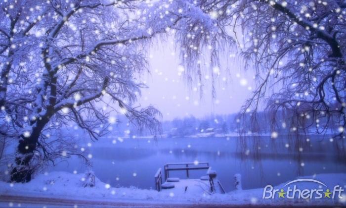 Snow Screensaver WinterScenes Snow Screensaver 100 Download 700x420
