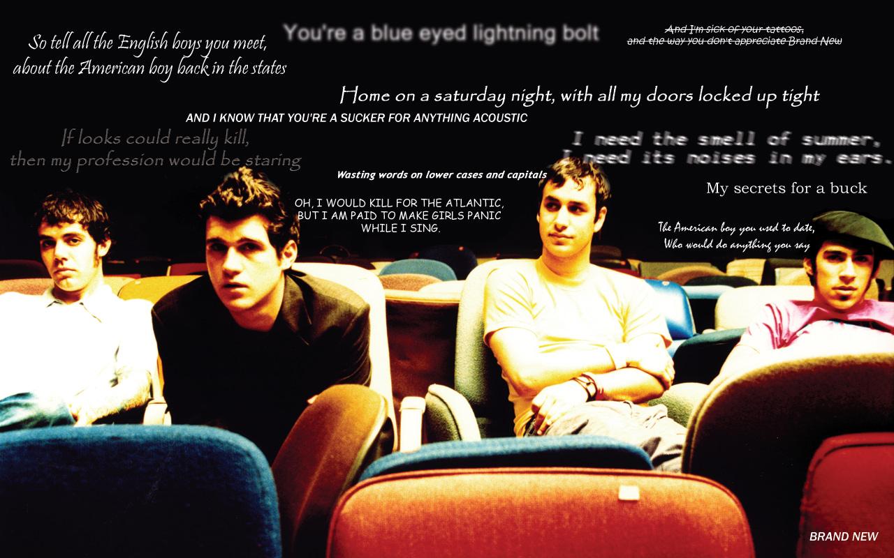 Brand New Band Wallpaper Lyrics of brand new by sith7 1280x800