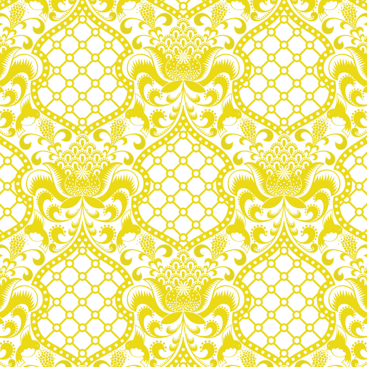 Jonathan Adler Wallpaper Brocade Yellow   Shabby Chic Country Home 1400x1400