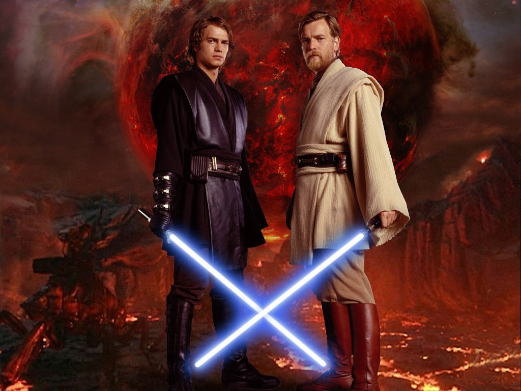 Revenge Of The Sith Wallpaper: Anakin Vs Obi Wan Wallpaper