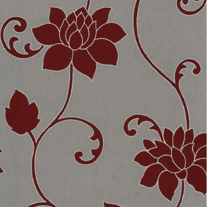 PS Decor Deluxe Orpheo Floral Trail Metallic Textured Wallpaper 720x720